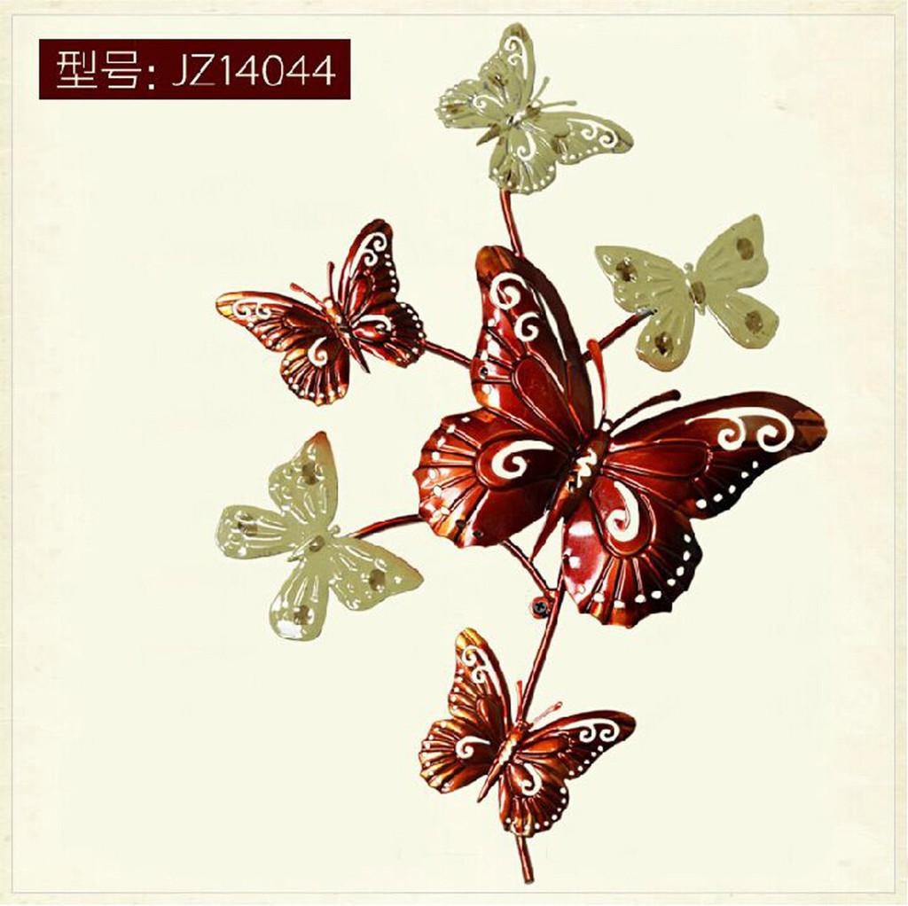 铁艺JZ14041墙饰欧式复古创意壁挂壁饰蝴蝶造型客厅背景家居装饰品